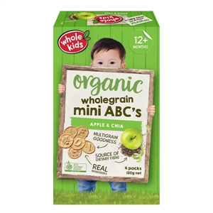 Picture of Whole Kids Organic Wholegrain Mini ABC's 4pks