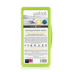 Picture of Wotnot Biodegradable Natural Baby Wipes with Travel Case 20pk