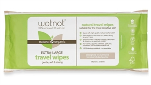 Picture of Wotnot Biodegradable Natural Travel Wipes - Soft Pack (20 sheets)
