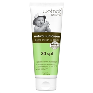 Picture of Wotnot Natural Sunscreen - Gentle Enough for Babies 30 SPF Natural Sunscreen 100g