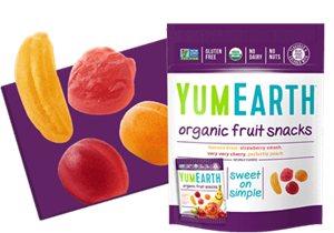 Picture of Yummy Earth Fruit Snacks 5 snack pack Banana Cherry Peach & Strawberry 99g (5x20g)
